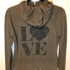 Victoria's Secret zip up hoodie. Size small.